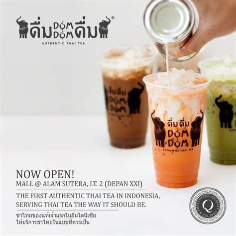 membuat thai tea dum dum mall alam sutera dum dum thai tea now open