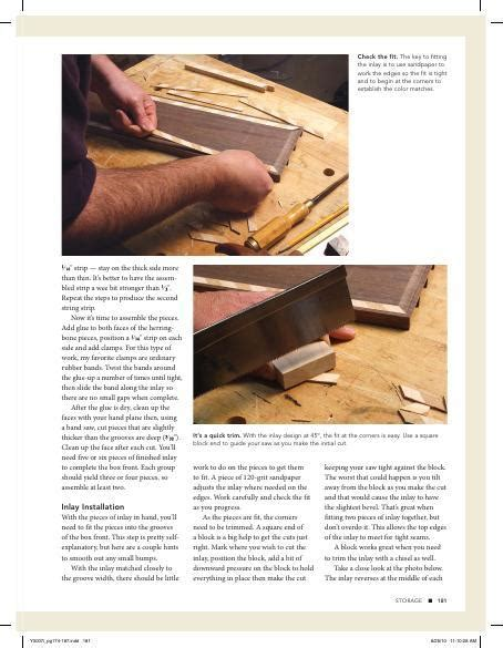 bible inlay box woodworking project woodsmith plans