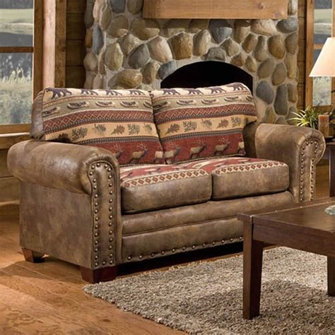 amerikanisches sofa mountain lodge printed tapestry loveseat free