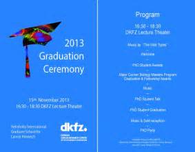 Graduation Ceremony Program Template by Deutsches Krebsforschungszentrum
