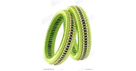 blue and green combination green and blue combination silk thread bangles