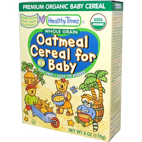 6 oz whole grains healthy times oatmeal cereal for baby whole grain 6 oz