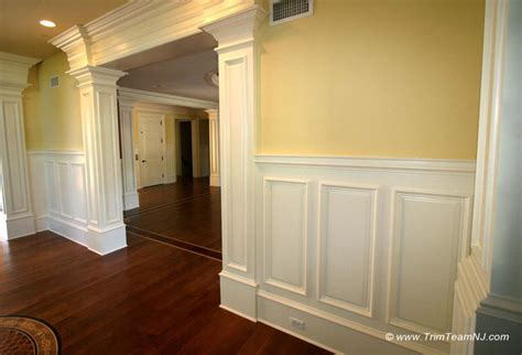 wainscoting dining room ideas wainscot and picture frames traditional by trim team nj