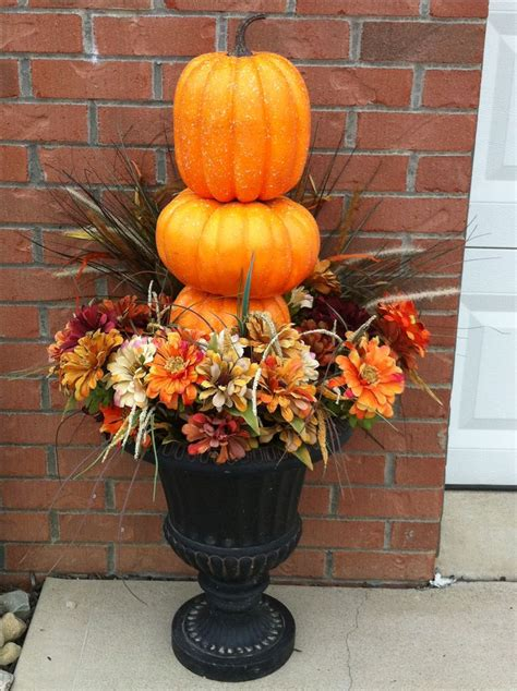 fall decor outdoor simple outdoor urns fall decor fall decoration