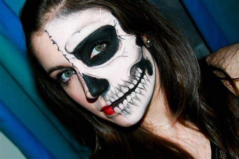 imagenes de uñas pintadas ala mitad rostros pintados para halloween imagui