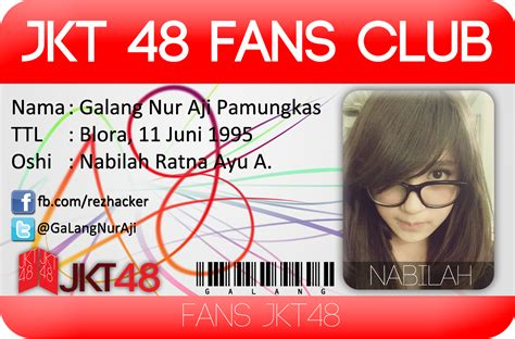 membuat id card jkt48 kartu identitas jkt48 fans club bacatekno com