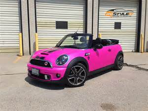 Pink Mini Cooper Convertible Pink Lilcoopr Vehicle Customization Shop Vinyl Car