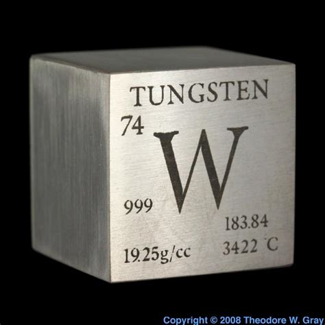 sle of the element tungsten in the periodic table
