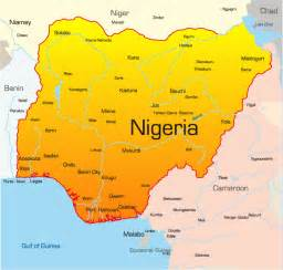 picture of map nigeria map showing attractions accommodation