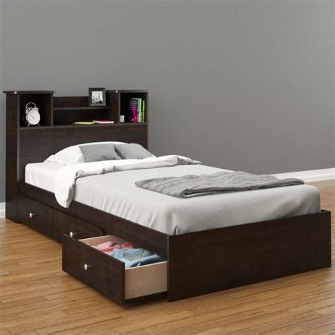 storage bed twin nexera pocono twin storage espresso bed ebay