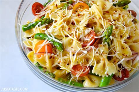 pasta salad recipes with italian dressing just a taste asparagus pasta salad with italian dressing