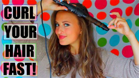 how to curl your hair fast with a wand how to curl your hair fast emma douglas youtube