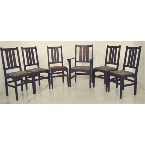gustav stickley dining room chairs