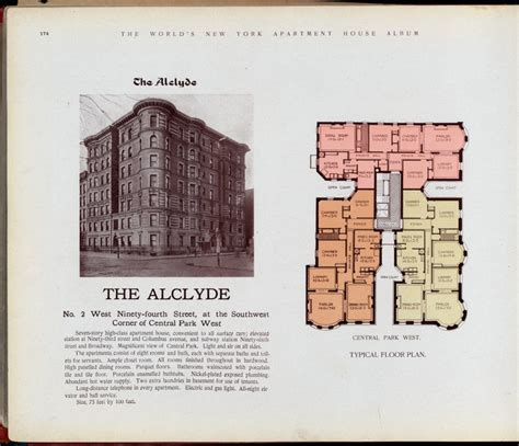 pre war apartment the alclyde west 94th cpw source nypl