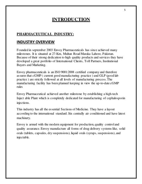 For The Pharmaceutical Industry Students Book Original internship report for pharmaceutical industry