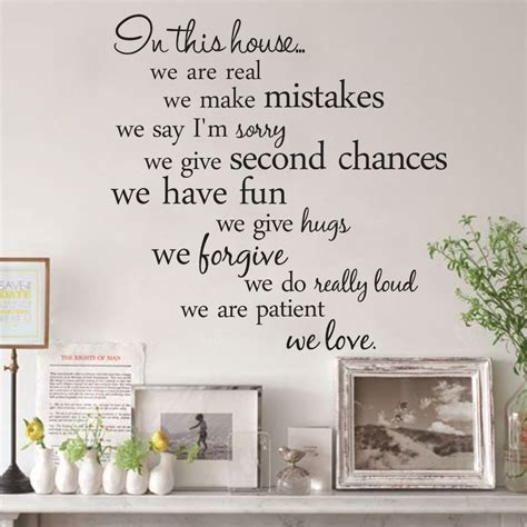 quotes on home decor house rules vinyl quote wall stickers home decor living