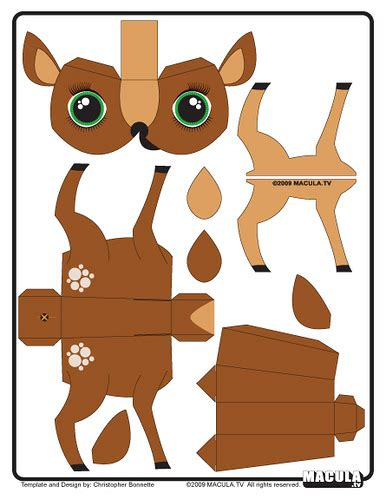 Deer Template Get The Hi Res Template Here Macula Tv Pape Flickr Papercraft Deer Template