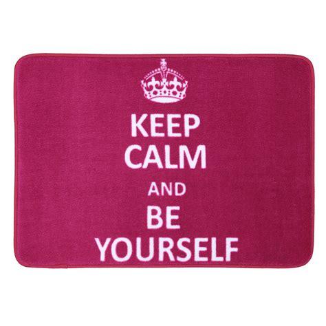 keep calm rug mohawk home keep calm be yourself bath rug 1 25 x 2 ft bath rugs at hayneedle
