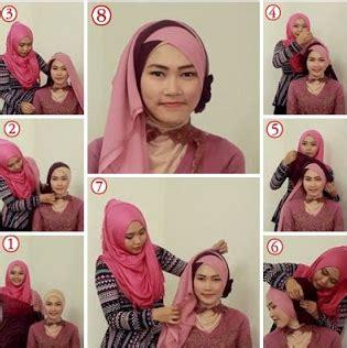 Jilbab Segi Empat 2 Lapis gambar cara memakai jilbab modern berlapis lapis
