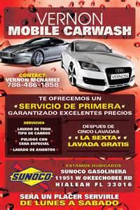 vernor mobile car wash promotional flyer tight designs
