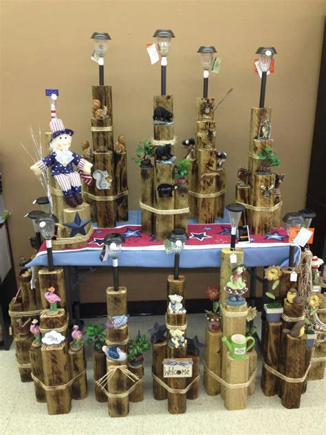 solar light crafts ideas 1000 images about fence post ideas on pinterest wood