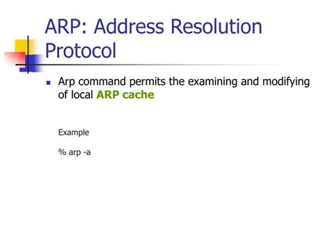 Address Resolution Protocol Ppt Network Debugging Powerpoint Presentation Id 4753259