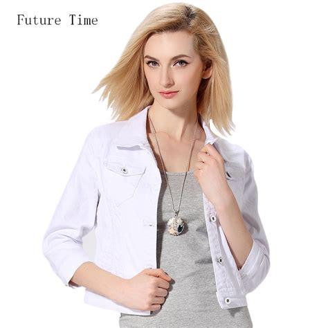 White Black Collar Set Toppants denim jacket overcoat jacket turn collar slim white black