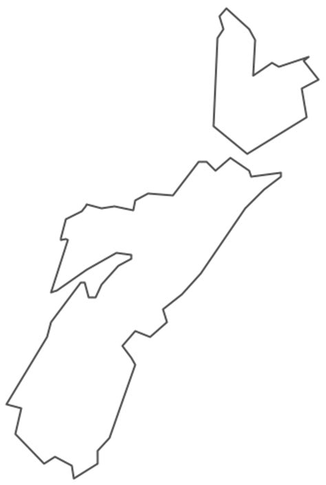 Map Of Scotia Outline by Geo Map Canada Scotia