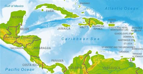 central america and the caribbean physical map 404 not found