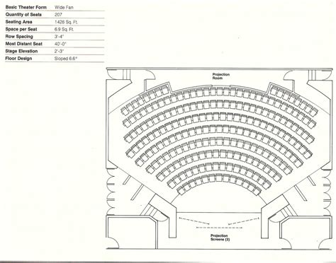 layout for view gallery of how to design theater seating shown through 21