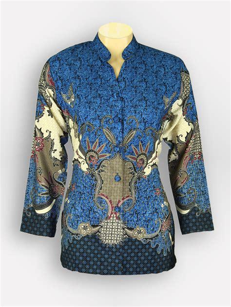 Baju Wanita Kemeja Batik Pgri 4174 baju batik wanita parang