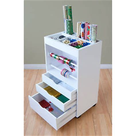 Paper Craft Storage - craft storage caddy wrapping paper cart ribbon