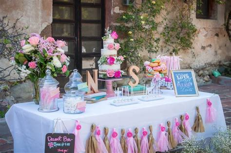 shabby chic book themed bridal shower