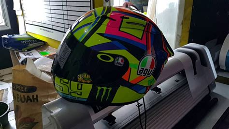 Helm Nhk Rx9 Motif pengecatan helm kyt rc7 motif 2016 dengan custom nomer