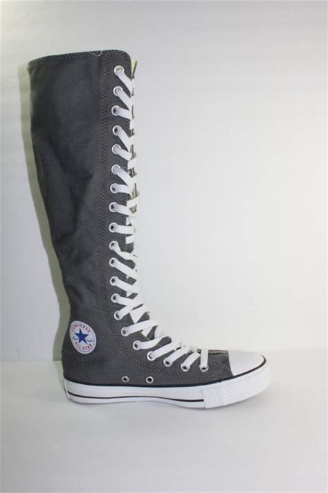 converse ct as xxhi womens knee high grey sneaker