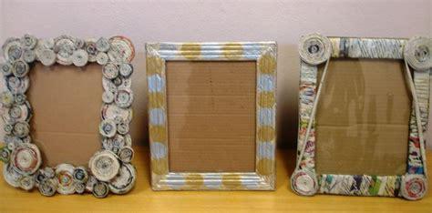 como hacer portaretratos de carton portaretratos reciclados con cart 243 n peri 243 dico y foamy