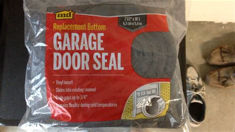 How To Diy Replace Bottom Door Seal On Garage Door How To Install Garage Door Bottom Seal