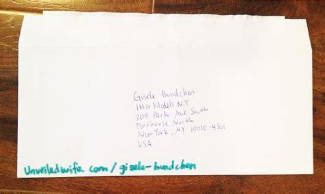 thank you letter after envelope encouraging letter to gisele bundchen