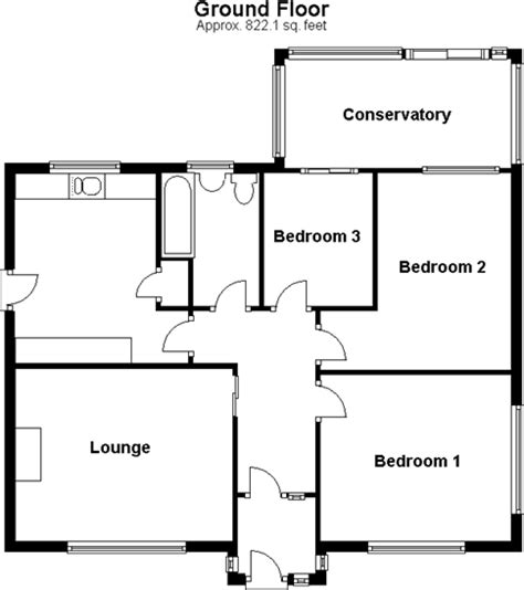 three bedroom ground floor plan 3 bedroom bungalow for sale in sholden deal kent ct14
