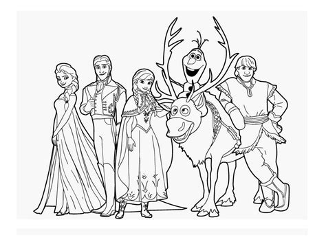 frozen coloring pages anna and kristoff family omalov 225 nky ledov 233 kr 225 lovstv 237 i creative cz inspirace