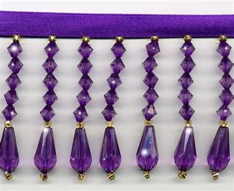 purple beaded fringe trim purple 14 colors of decor beaded fringe trim