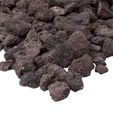 real black lava rock l10001 bkl the home depot