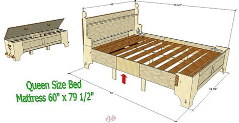queen size folding bed version   woodworking plans