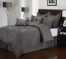 8 piece cal king roselle charcoal comforter set ebay