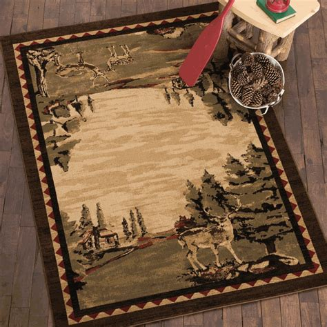 deer bathroom rugs cabin deer rug 8 x 10