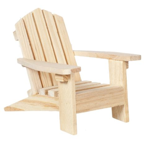 Unfinished Wood Adirondack Chairs by Adirondack Chair Unfinished S Dollhouse Miniatures