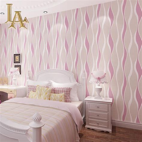 white and pink striped wall contemporary bedroom aliexpress com buy fashion european blue pink beige