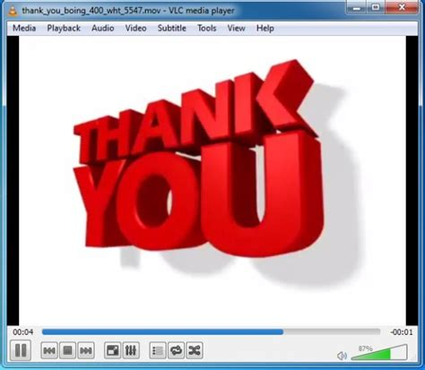 Thank You Clipart For Powerpoint Presenter Media Animations Free