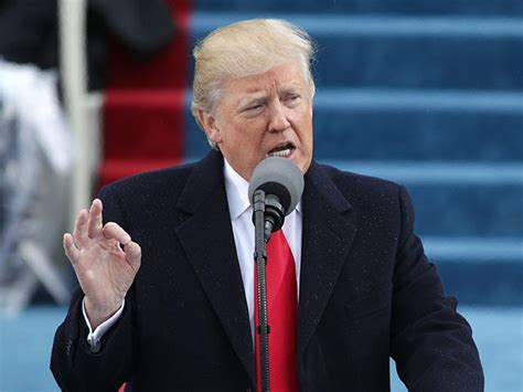 Donald Trump Inauguration Speech | history trump becomes first president to use words