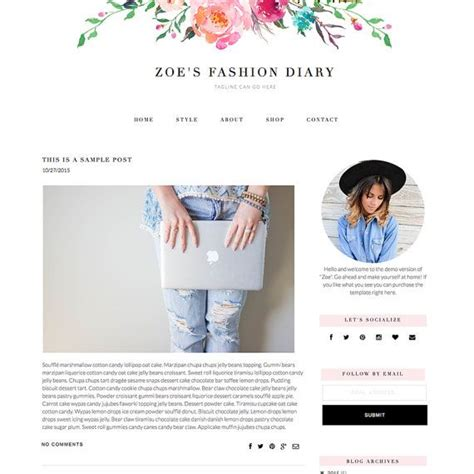 blog design ideas responsive blogger template zoe feminine by